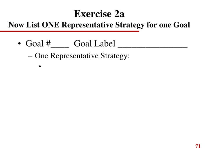 Exercise 2a