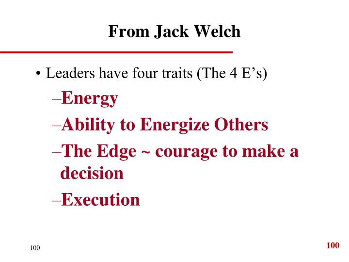 From Jack Welch