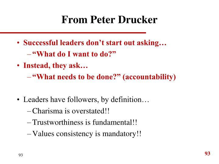 From Peter Drucker