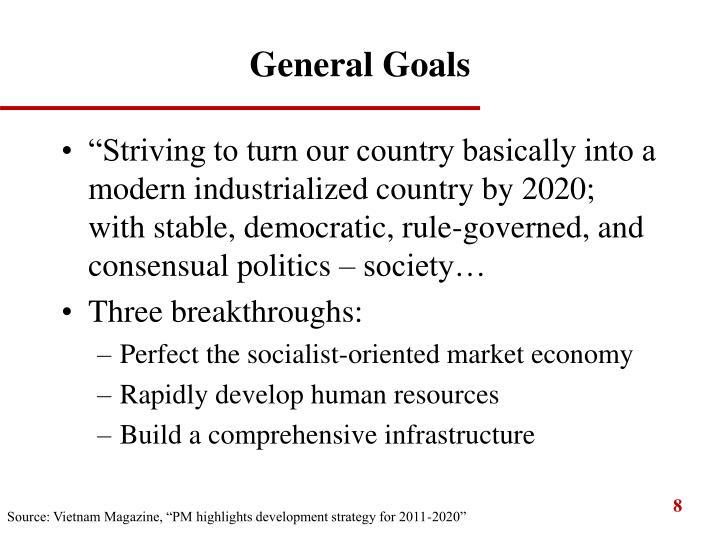 General Goals