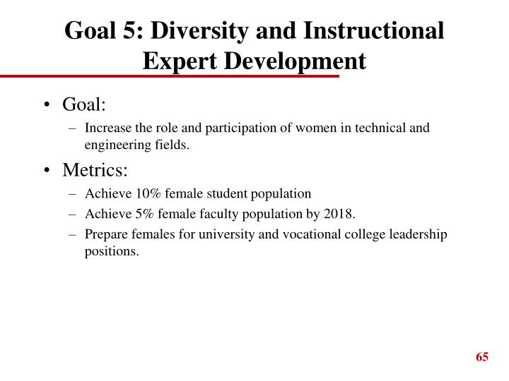 Goal 5: Diversity and Instructional