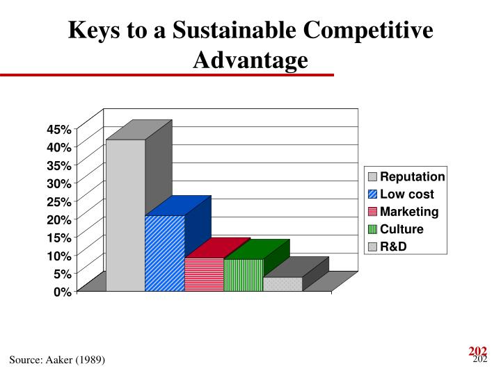 Keys to a Sustainable Competitive Advantage