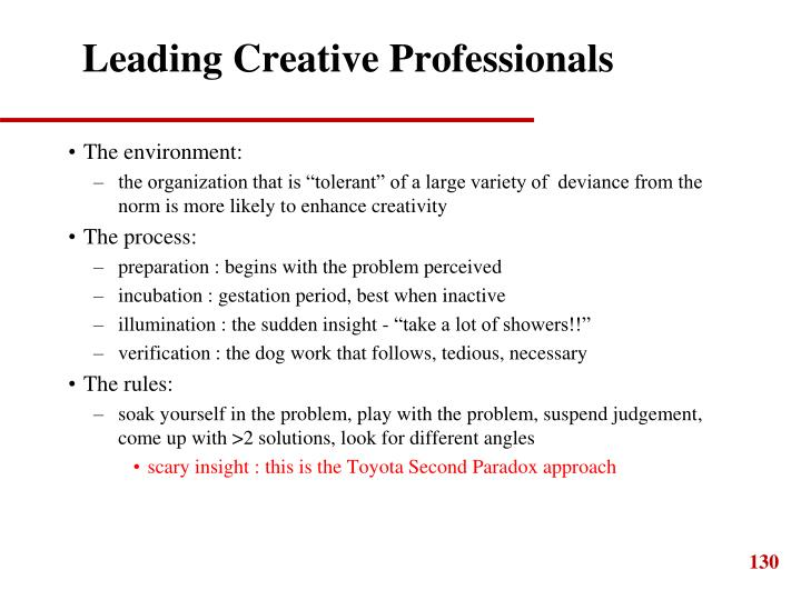 Leading Creative Professionals