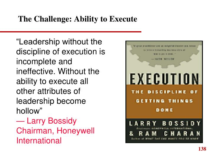 The Challenge: Ability to Execute