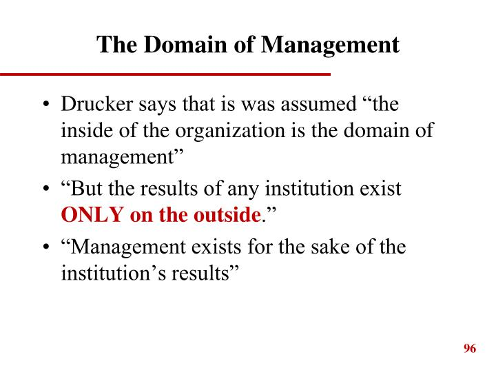 The Domain of Management