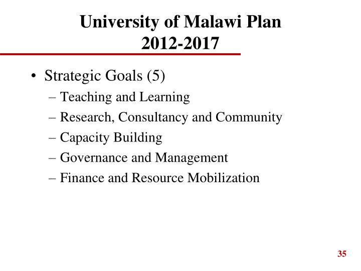 University of Malawi Plan