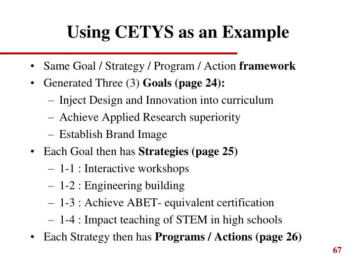 Using CETYS as an Example