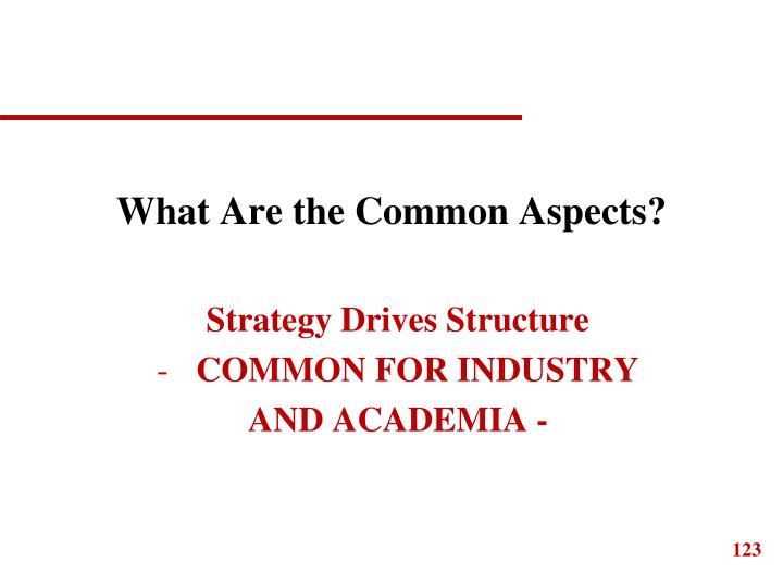 What Are the Common Aspects?