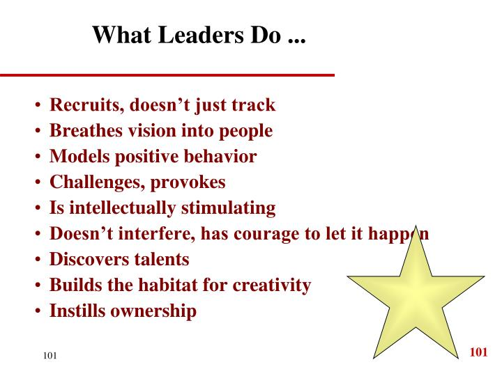 What Leaders Do ...