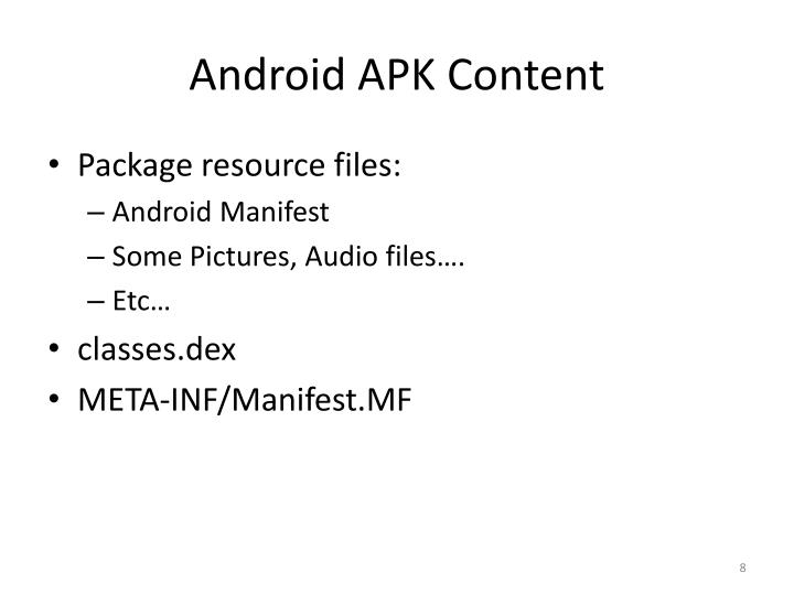 Android APK Content