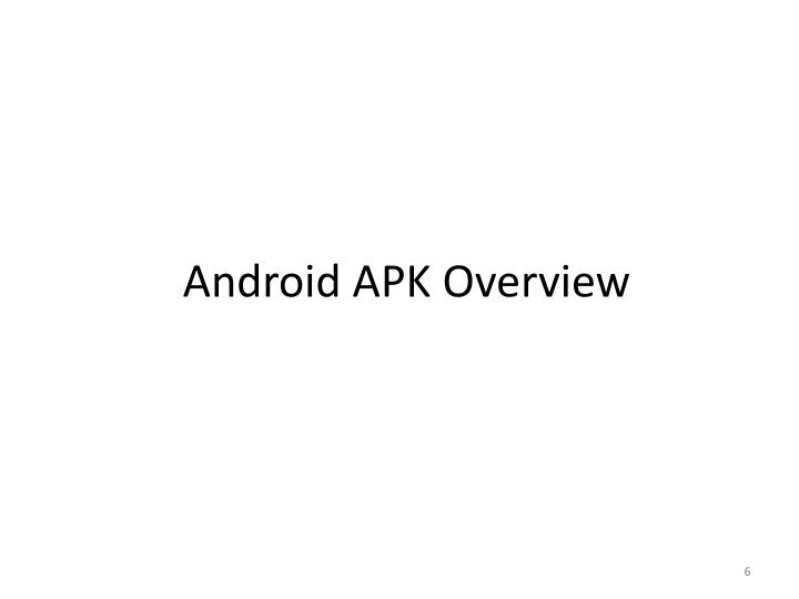 Android APK Overview