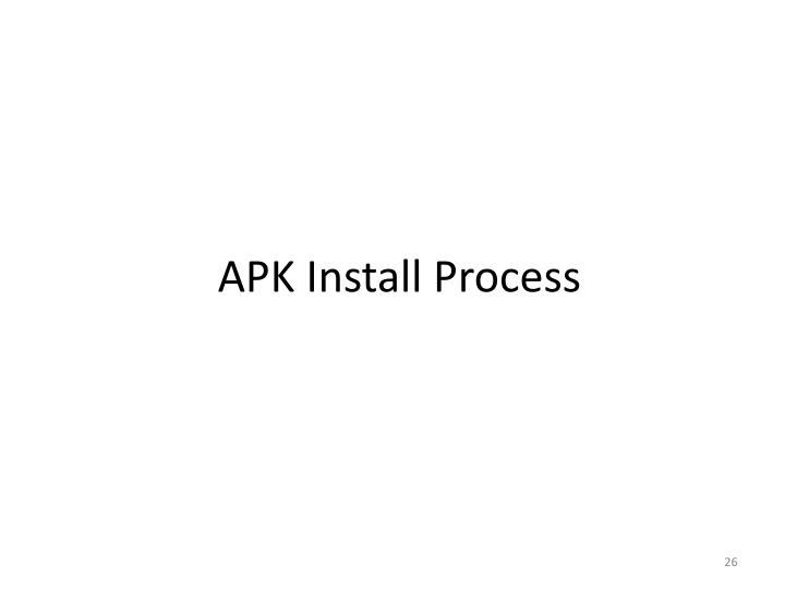 APK Install Process