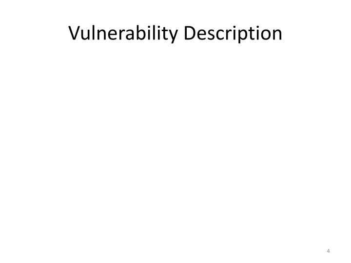 Vulnerability Description