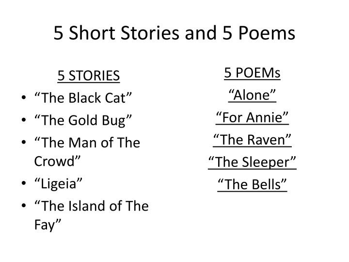 5 short stories and 5 poems