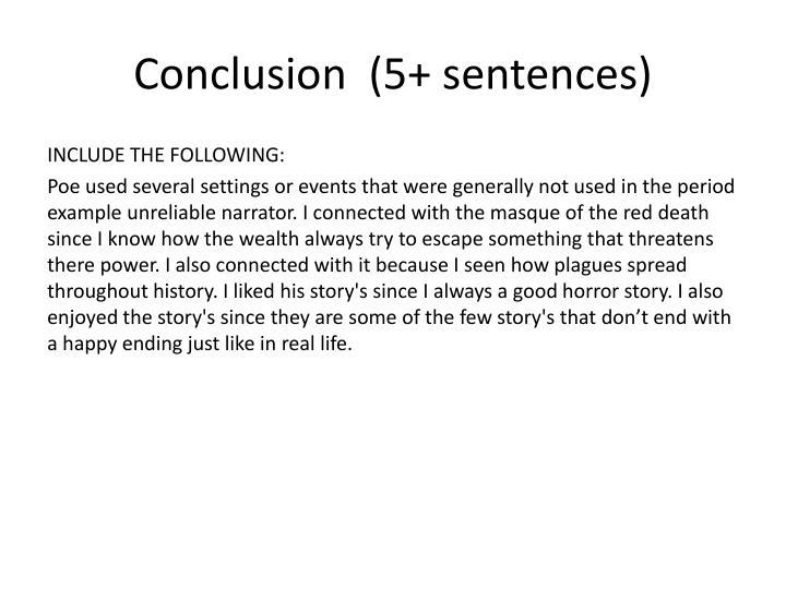 Conclusion  (5+ sentences)