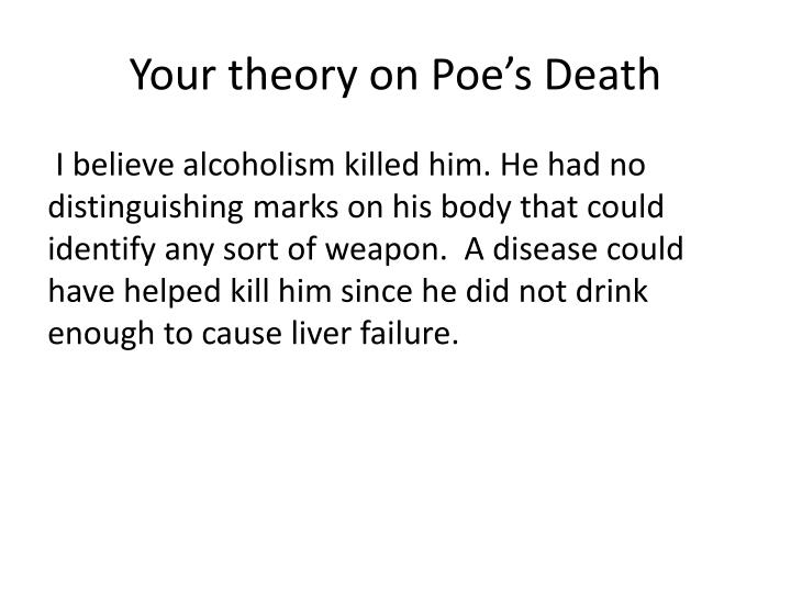 Your theory on Poe's Death