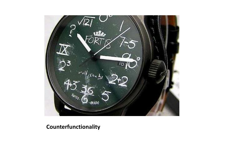 Counterfunctionality