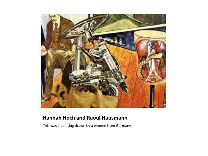 Hannah Hoch and Raoul Hausmann