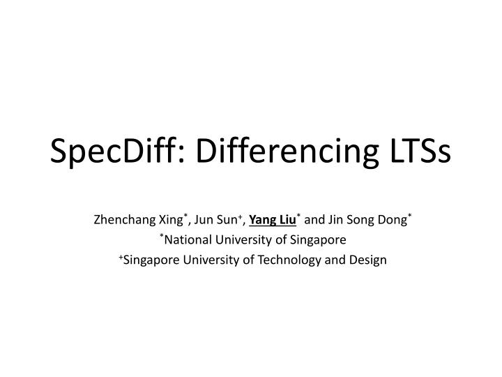 Specdiff differencing ltss