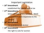 important legislation