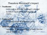 theodore roosevelt s impact