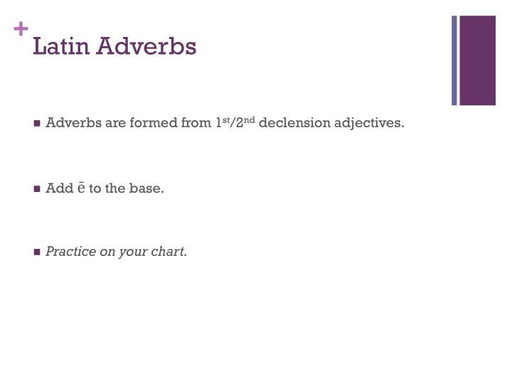 Latin Adverbs