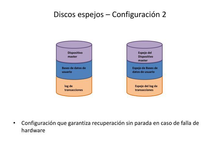 Discos espejos – Configuración 2