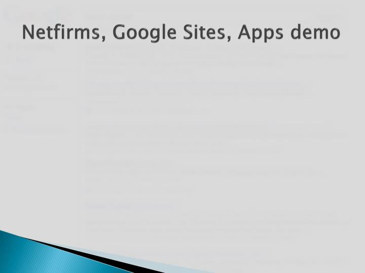 netfirms google sites apps demo