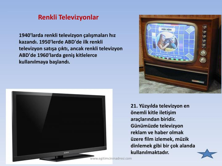 Renkli Televizyonlar