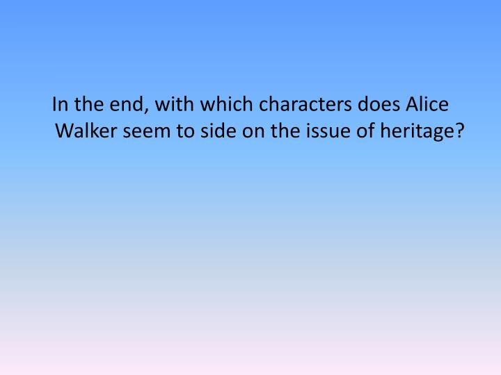 "the character of dee in the short story everyday use by alice walker Similarities and differences of maggie and dee in ""everyday use"" in the story ""everyday use,"" by alice walker,  the character of dee."