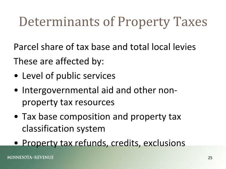 Determinants of Property Taxes