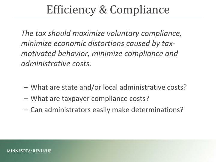Efficiency & Compliance