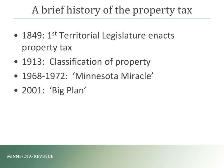 A brief history of the property tax