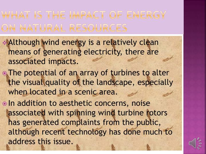 WHAT IS THE IMPACT OF ENERGY