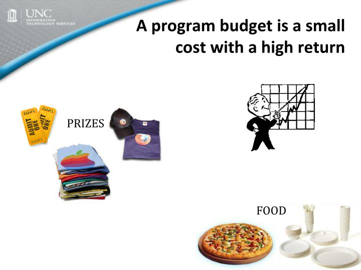 A program budget is a small cost with a high return