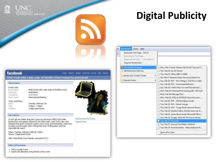 Digital Publicity
