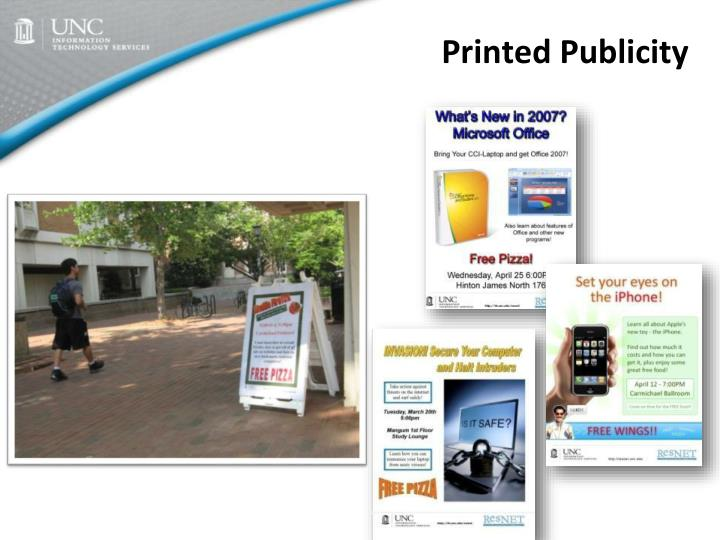 Printed Publicity