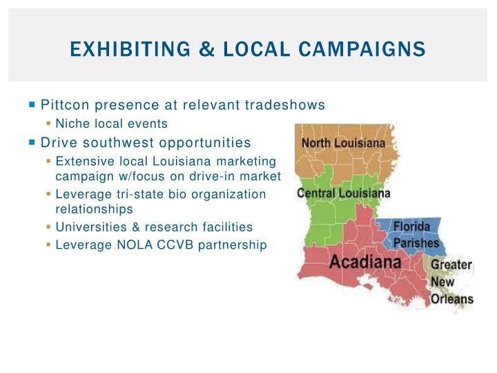 Exhibiting & Local Campaigns