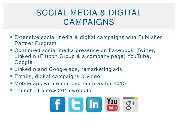 Social Media & Digital Campaigns