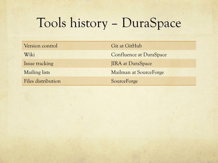 Tools history –