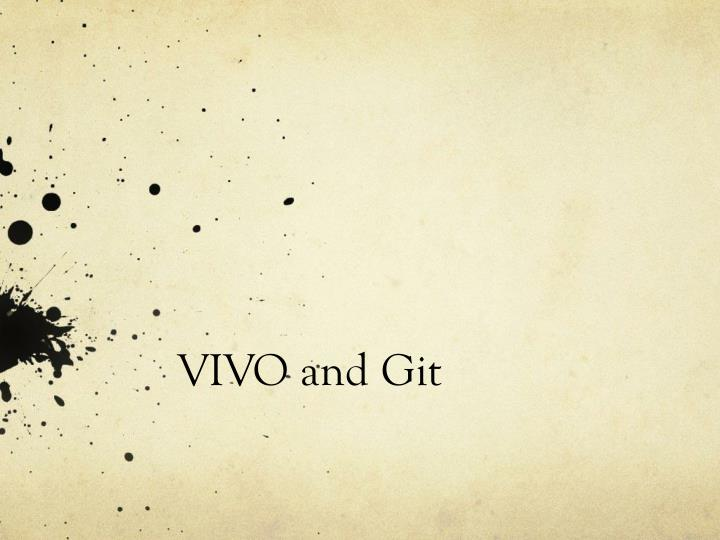 Vivo and git