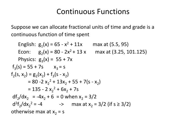 Continuous Functions