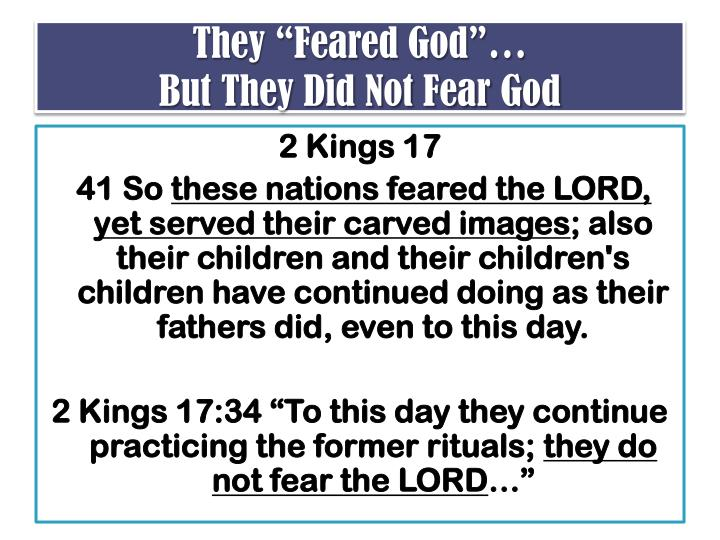 "They ""Feared God""…"