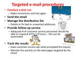 targeted e mail procedures