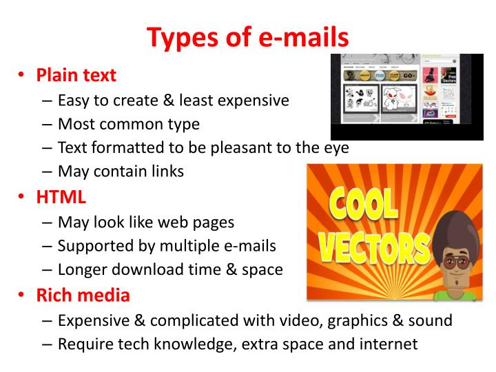 Types of e-mails
