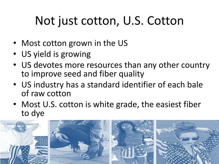 Not just cotton, U.S. Cotton