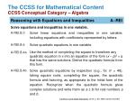 the ccss for mathematical content ccss conceptual category algebra1