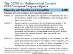 the ccss for mathematical content ccss conceptual category algebra2