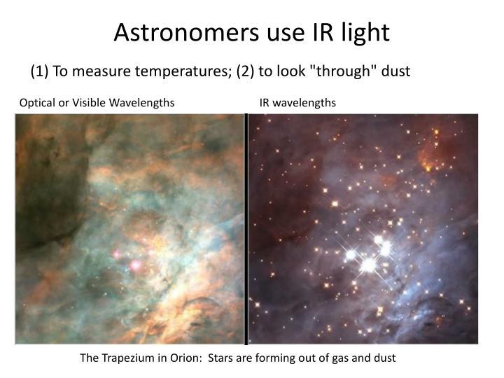 Astronomers use IR light