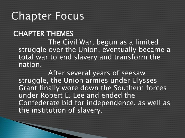 Chapter Focus